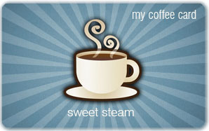 Sweet Steam Plastic Card